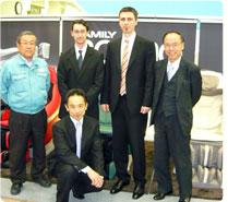 Japán gyártó vezetői és Lukács Úr